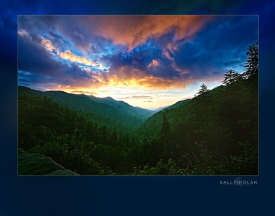 #sunset #smokey mountains #sally Kolar Photography