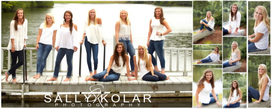 Lakeside High School Senior Cheerleaders