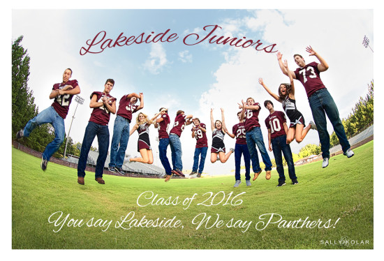 Lakeside High School Junior Cheerleaders and Football players