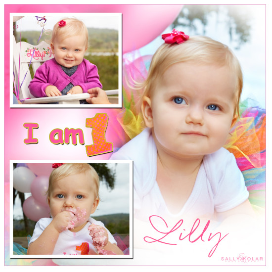Lilly's One Year Photo Shoot