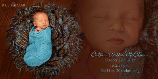 Welcome to the World Colton!