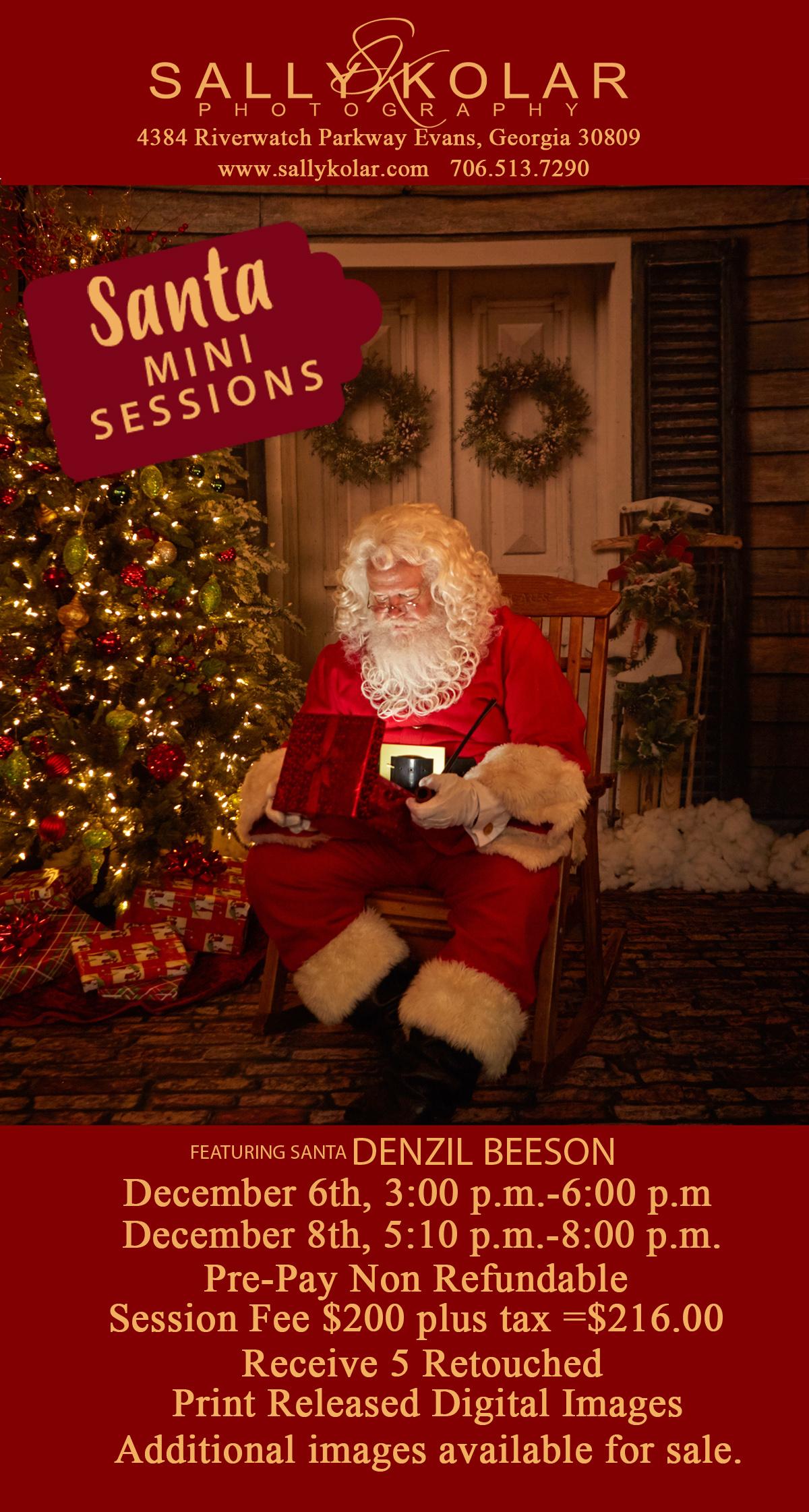 Schedule your Santa photos NOW!!!